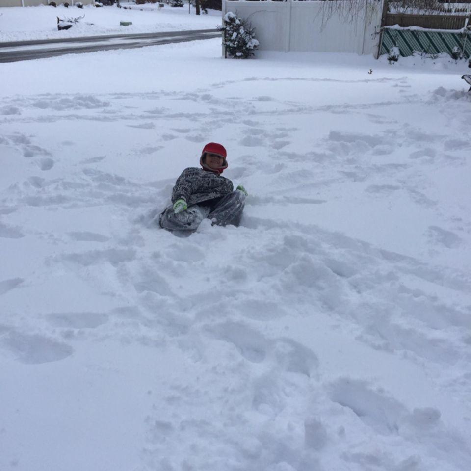 Jaylen loving the snow !!