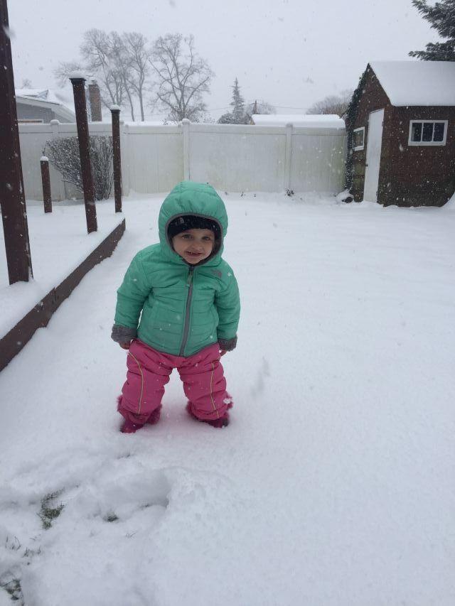 Zoe Allaben, age 2, of Oceanside enjoying the