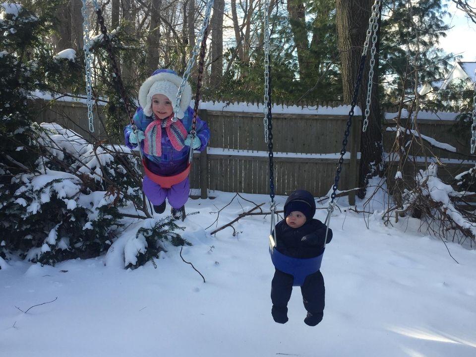 Scarlett (age 3) & Brendan (10 months) Rostron