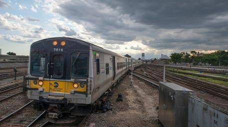 An east bound Long Island Rail Road train