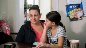Terese Uveno, 35, and her daughter Isabella, 8,