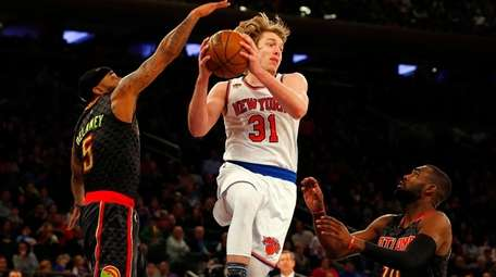 Ron Baker #31 of the New York Knicks