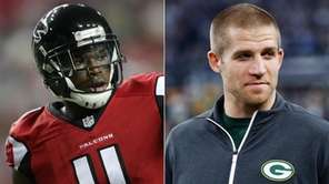 The Falcons expect Julio Jones, left, to play