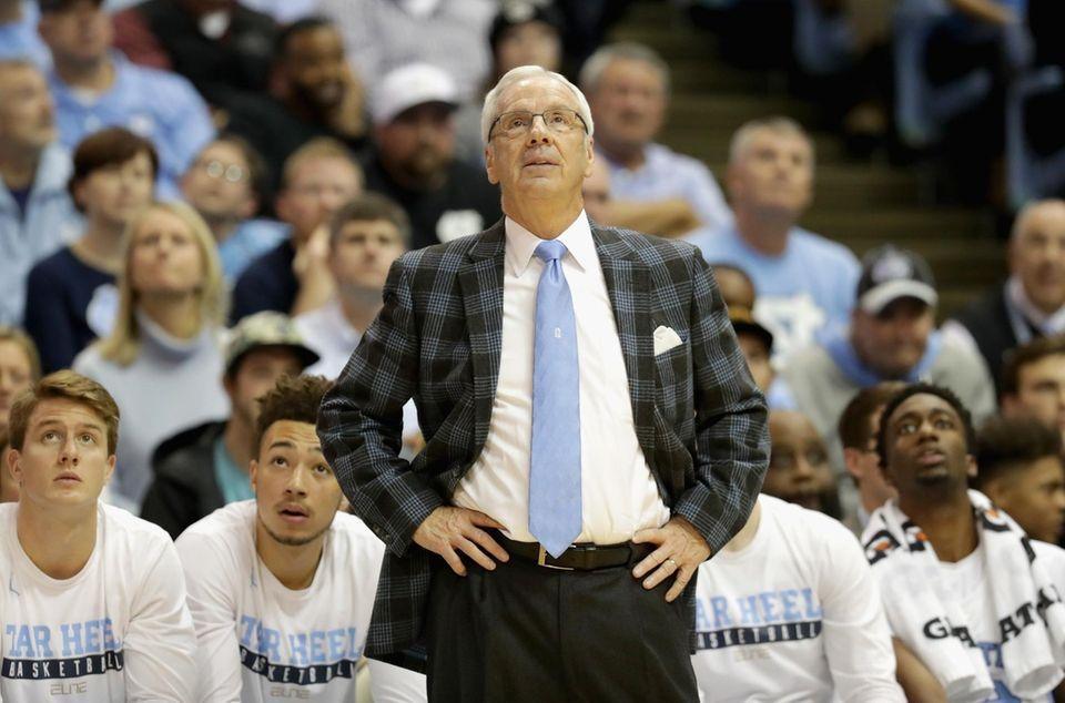 Head coach Roy Williams of the North Carolina