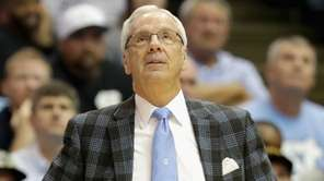 Head coach Roy Williams of the North Carolina