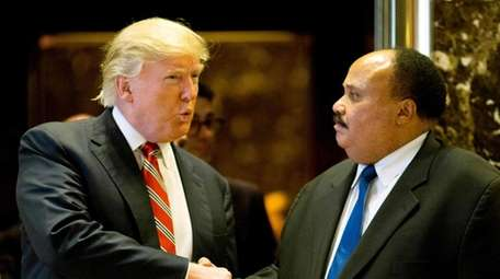 Donald Trump meets with Martin Luther King III