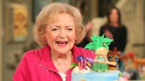 Actress Betty White during the celebration of her