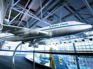 A large model of 747 Pan Am jet
