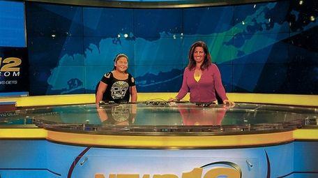 Kidsday reporter Mia Seeto and Antoinette Biordi from