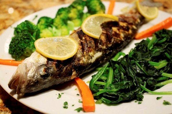 Grilled fish at Casa di Fratelli in Westbury,