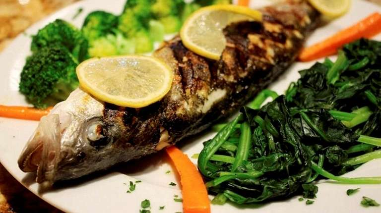 Grilled fish at Casa di Fratelli in Westbury,