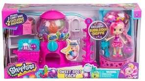 The pack comes with a mini Shopkins doll,