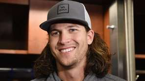New York Mets pitcher Jacob deGrom speaks to