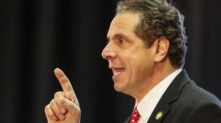 Gov. Andrew Cuomo delivers a State of the