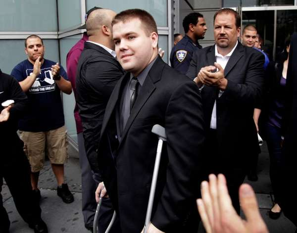 NYPD Officer Richard Haste, facing a departmental trial