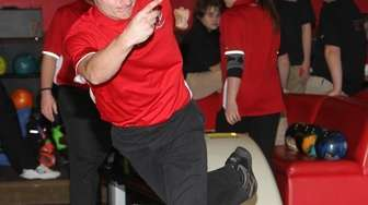 Connetquot's James Robertson bowls during a Suffolk bowling