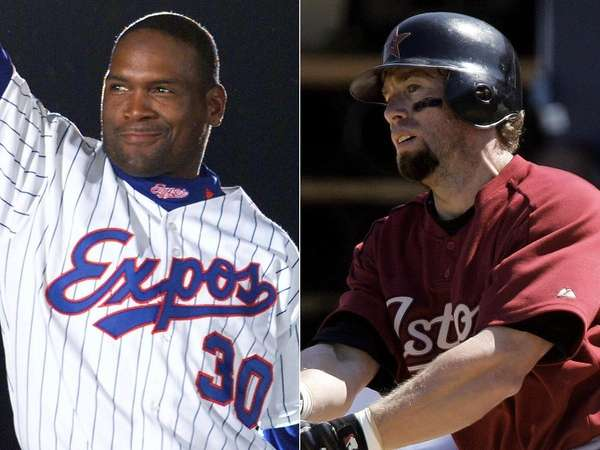 Tim Raines, left, and Jeff Bagwell are expected