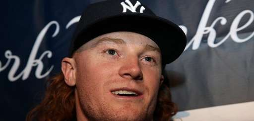 Yankees prospect Clint Frazier talks to the media