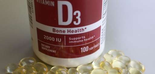 Vitamin D tablets are displayed, Wednesday, Nov. 9,