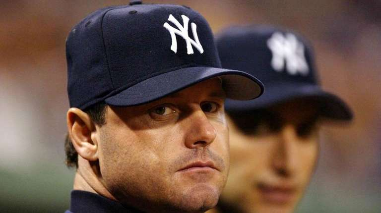 Roger Clemens of the New York Yankees before