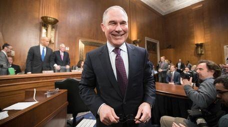 Environmental Protection Agency Administrator-designate Scott Pruitt arrives on