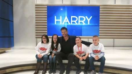 Harry Connick Jr. on the set of his