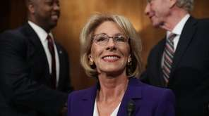 Betsy DeVos, President-elect Donald Trump's pick to be