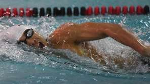 Half Hollow Hills' Dylan Chan swims the 200