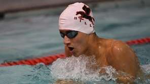 Half Hollow Hills' Mason Arnberg swims the 100