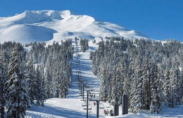 Mount Bachelor in Oregon offers seven high-speed lifts.