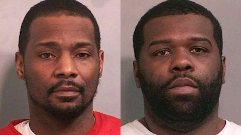 Hyson Mency, 40, of Hempstead, left, and Anthony