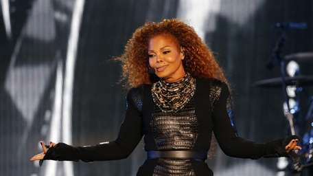 US singer Janet Jackson performs during the Dubai