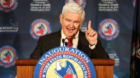 Former Speaker of the House Newt Gingrich speaks