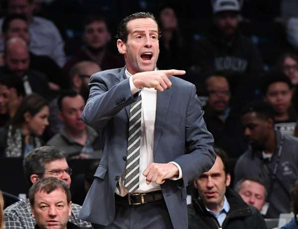 Nets coach Kenny Atkinson in a game against
