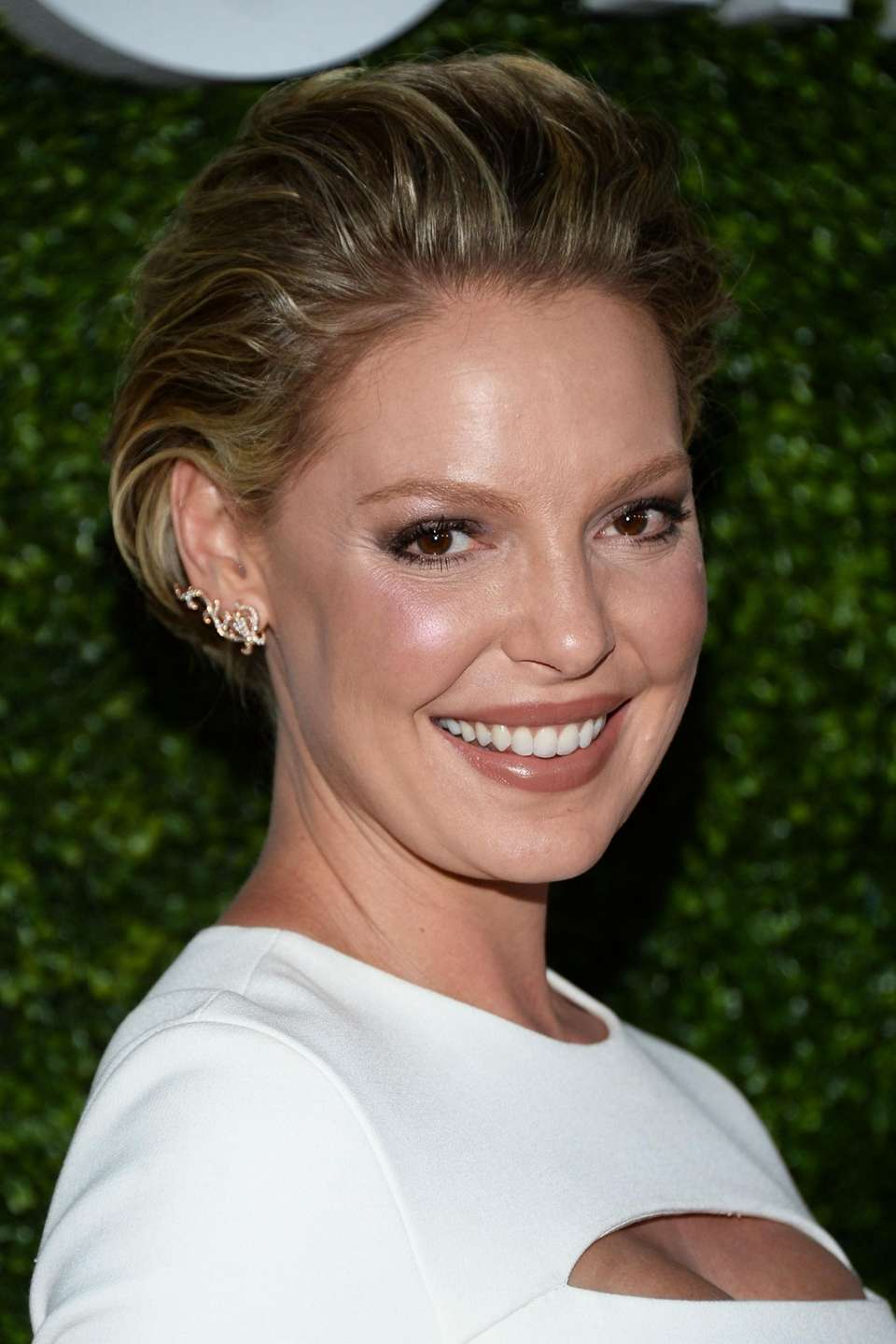 Actress Katherine Heigl arrives at the CBS, CW,