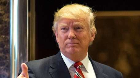 President-elect Donald Trump at Trump Tower in Manhattan