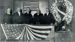 A re-enactment of the Jan. 5, 1918, swearing-in