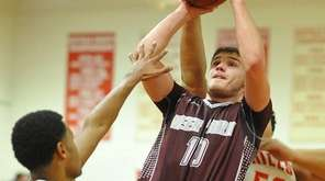 Josh Pismeny of Deer Park draws a shooting