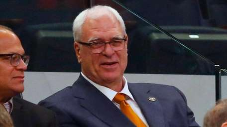 Phil Jackson of the New York Knicks watches