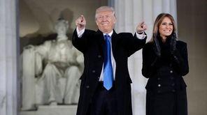 Donald Trump and his wife, Melania Trump, arrive