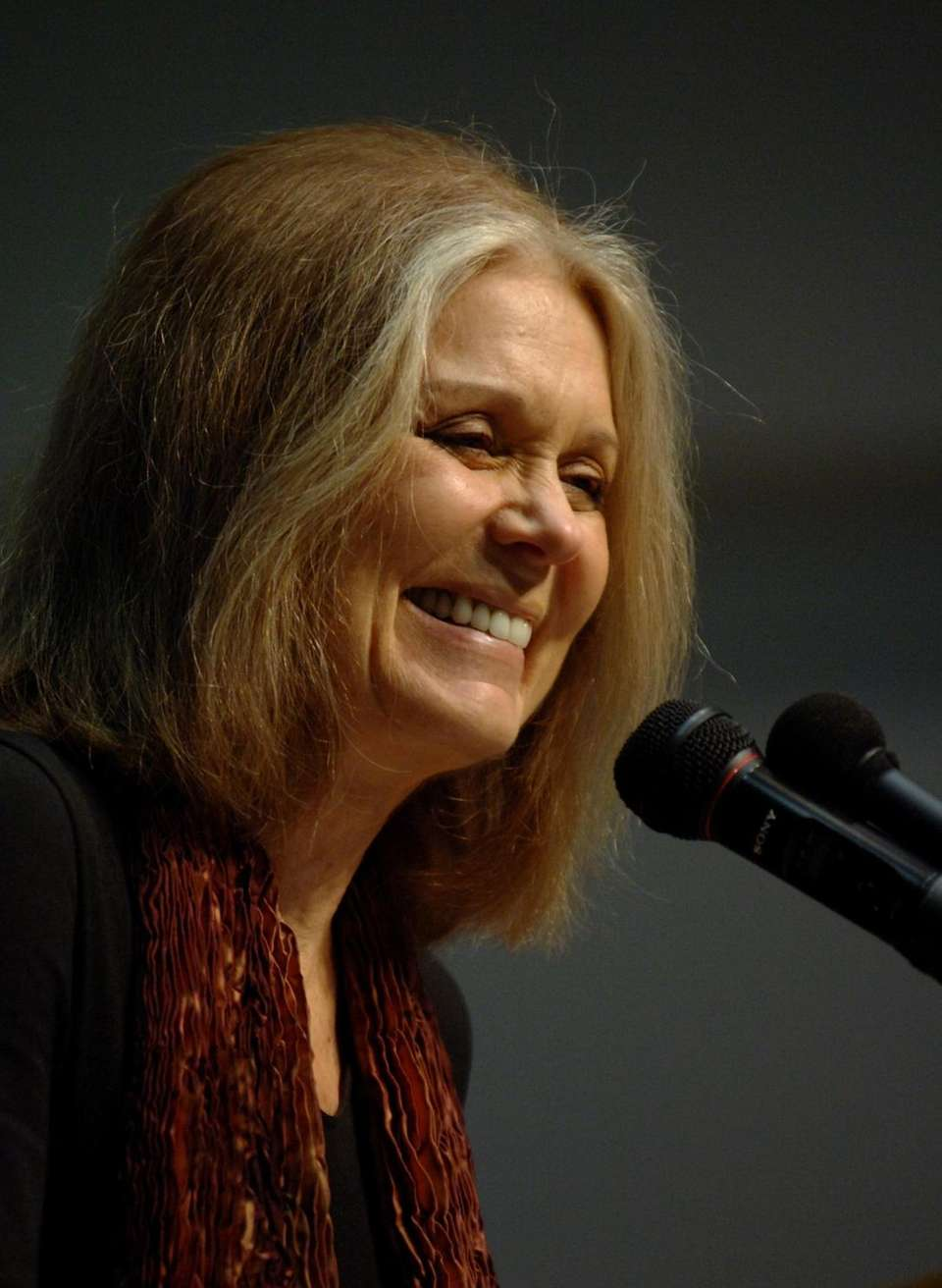 Noted feminist and writer Gloria Steinem, who has