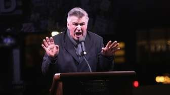 Alec Baldwin speaks onstage during the We Stand