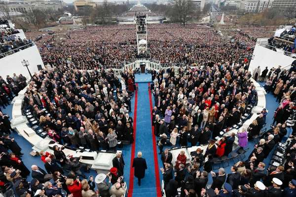 President-elect Donald Trump arrives during the 58th Presidential