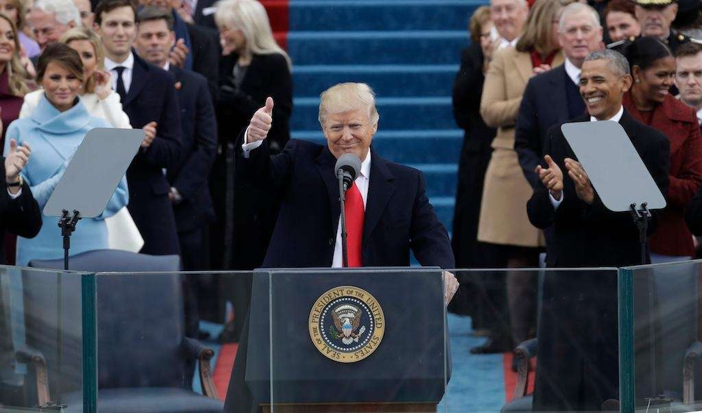 Trump's inaugural address: Now it's 'America first'