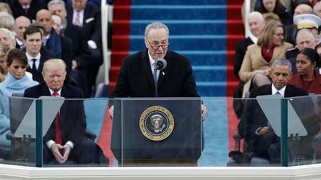 Sen. Chuck Schumer speaks during the 58th Presidential