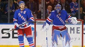 Henrik Lundqvist and Ryan McDonaghof the New York