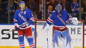 Henrik Lundqvist  and Ryan McDonagh of the New York