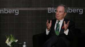 Former New York City Mayor Michael Bloomberg speaks