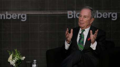 Former New York City Mayor Michael Bloomberg speaks