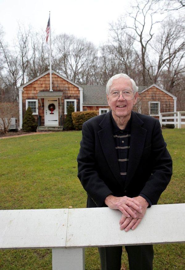 Former Nissequogue mayor John L. Donahue outside Village
